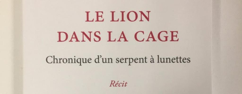 Le Lion dans la cage de Noémie Fansten